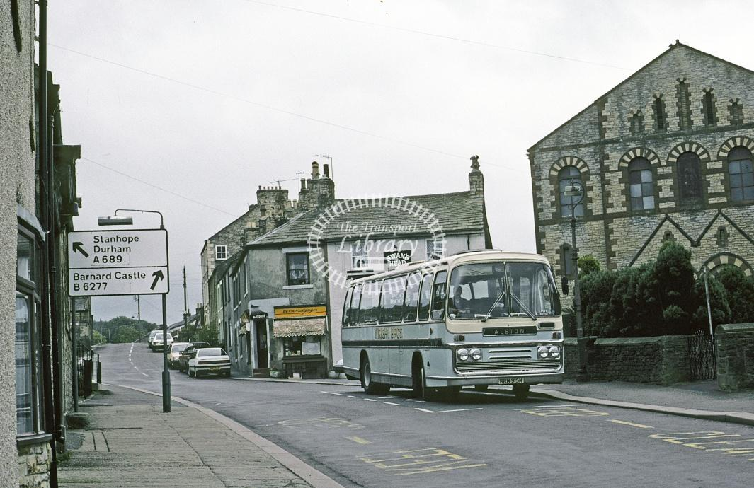 Wright Bros, Nenthead Bedford YRQ ORM884M at Alston in 1990 - Aug 1990 - Roy Marshall