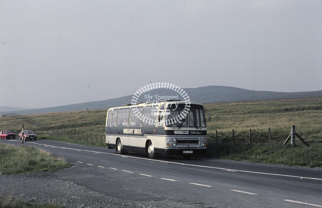Wright Bros, Nenthead Bedford YLQ GHH367V at Hartside in 1983 - Aug 83 - Roy Marshall