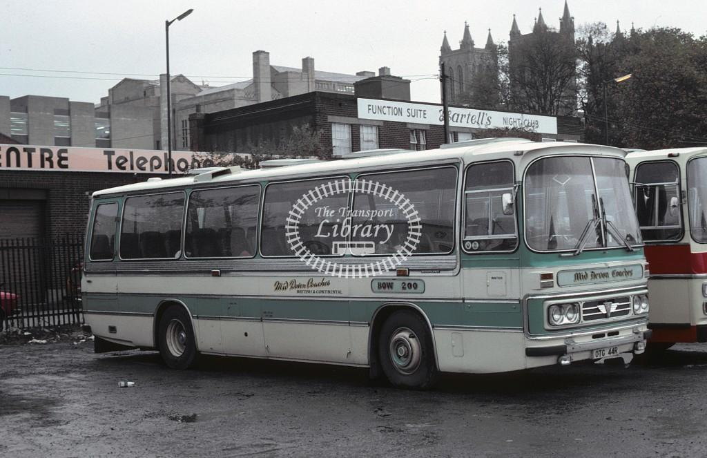 Wills, Bow AEC Reliance OTG44R at Bristol in 1981 - Oct 1981 - Roy Marshall