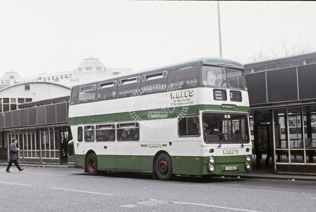 Walls, Fallowfield Leyland FE30 YSV662 at Manchester in 1988 - May 1988 - Roy Marshall