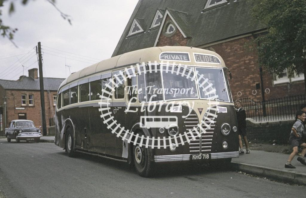 Glider and Blue, Bishops Waltham AEC Regal III KHO718 at Bishops Waltham in 1964 - Sep 1964 - Roy Marshall