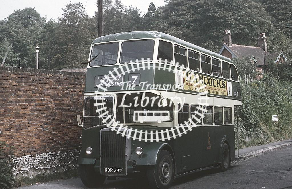 King Alfred, Winchester Leyland PD2 KOR382 at Winchester in 1967 - Sep 1967 - Roy Marshall