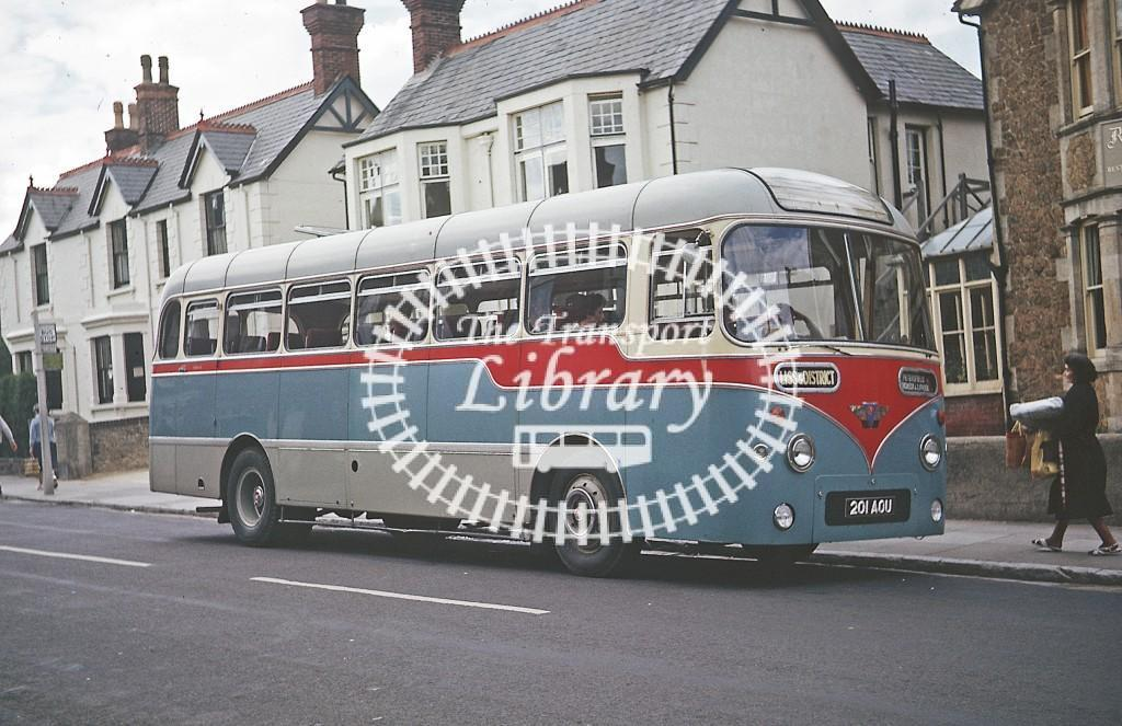 Liss and District, Petersfield AEC Reliance 201AOU at Petersfield in 1963 - Jul 1963 - Roy Marshall