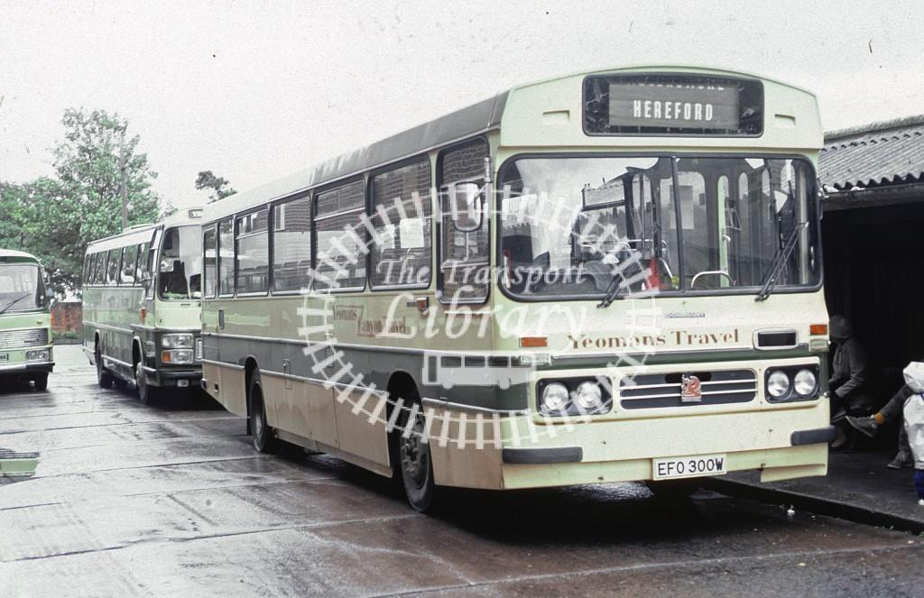 Yeoman, Canon Pyon Bedford YMT EFO300Y at Hereford in 1983 - Oct 1983 - Roy Marshall