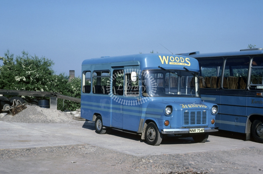 Wood, Wigston Ford Transit NNR754P  at Depot/Garage  in 1978 - May - Roy Marshall