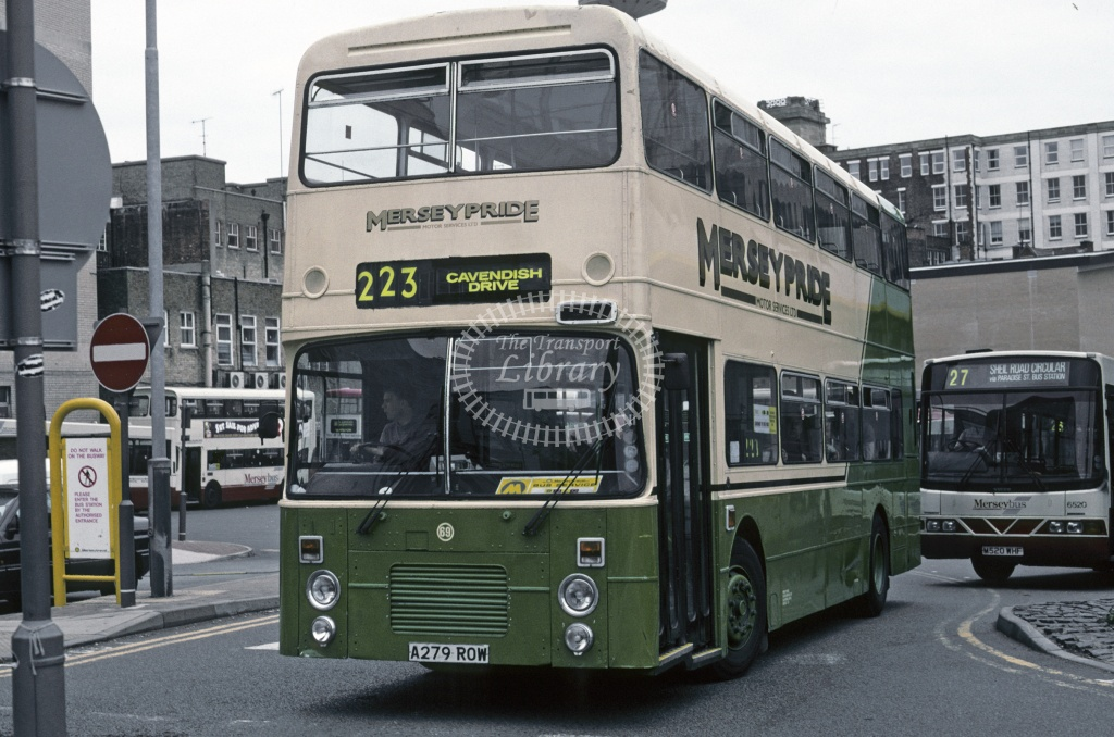 Mersey Pride (Forrest),  Bootle Dennis Dominator A279AOW at Liverpool in 1997 - Jun 1997 - Roy Marshall