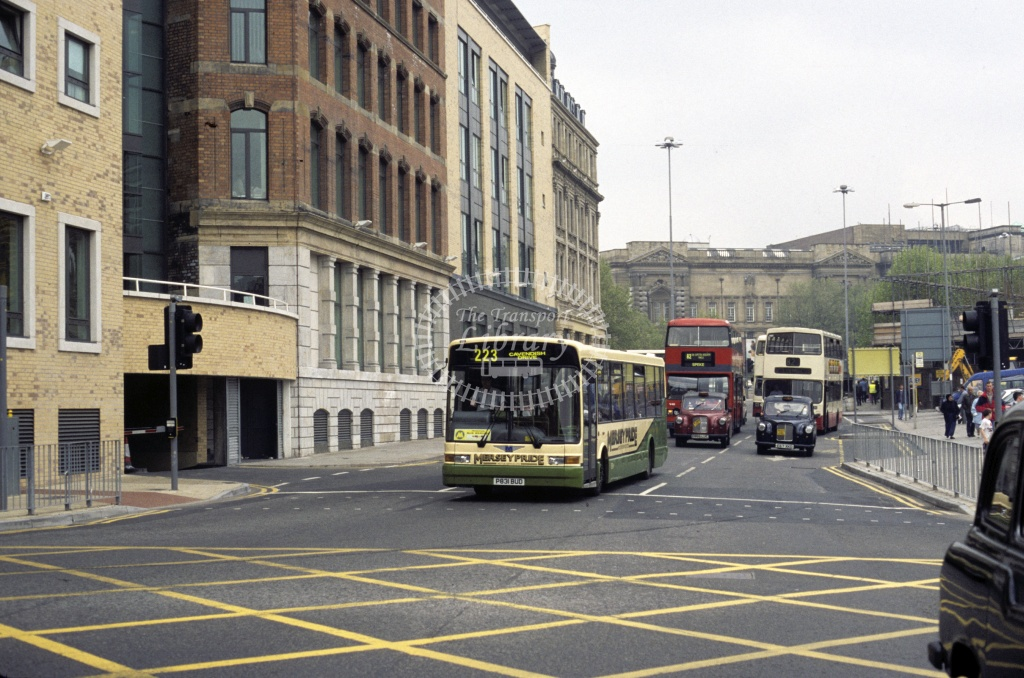 Mersey Pride (Forrest),  Bootle Dennis Dart SLF P831BUD at Liverpool in 1997 - Jun 1997 - Roy Marshall