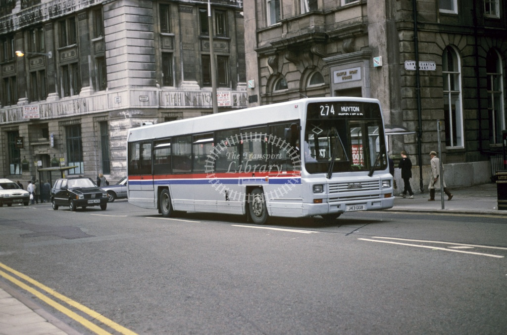 LiverBus, Huyton Leyland Lynx J43GGB at Liverpool in 1993 - Oct 1993 - Roy Marshall