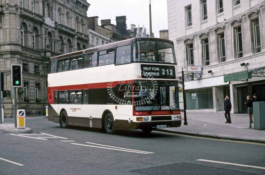 LiverBus, Huyton Volvo YN2R L205SKD at Liverpool in 1993 - Oct 1993 - Roy Marshall