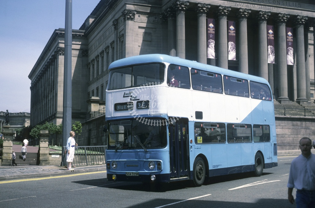LiverLine, Liverpool Leyland AN68 17 SGA729N at Liverpool in 1988 - Jun 1988 - Roy Marshall