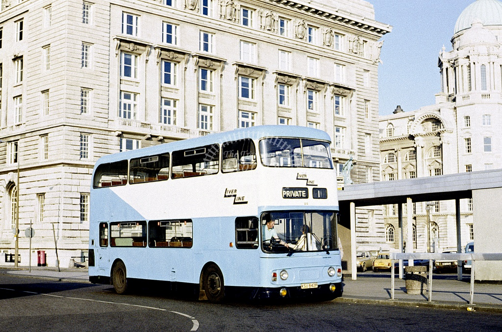 LiverLine, Liverpool Leyland AN68 20 KSU842P at Liverpool in 1988 - Jun 1988 - Roy Marshall