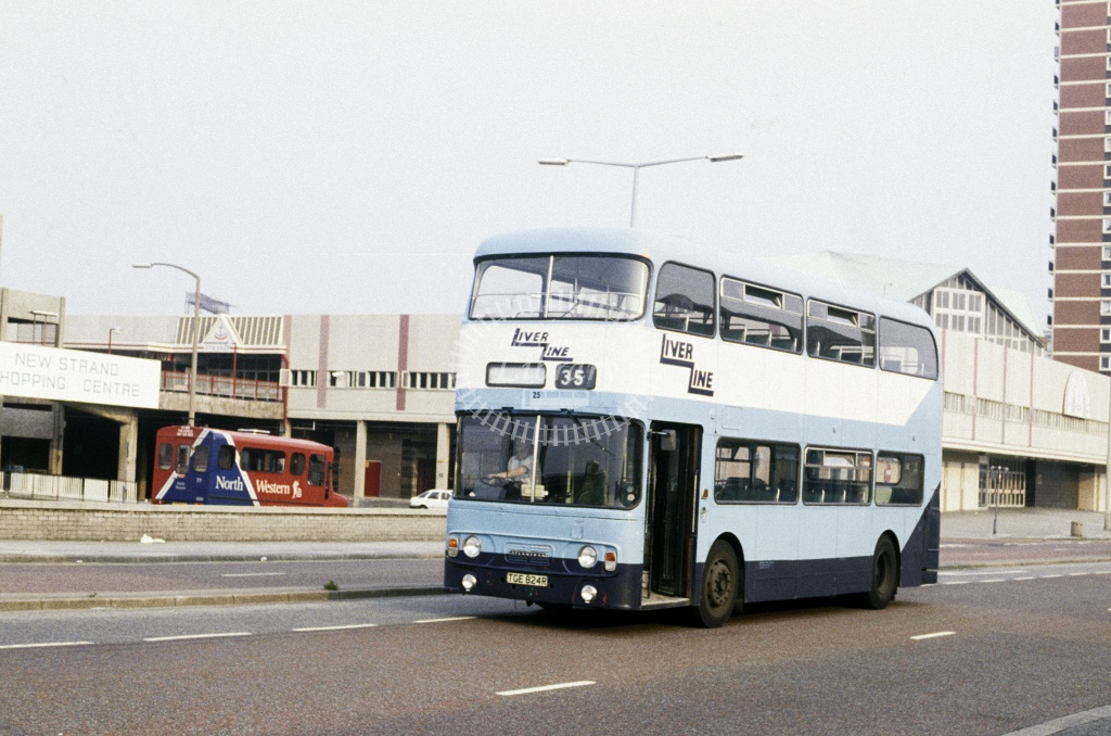 LiverLine, Liverpool Leyland AN68 25 TGG824R at Liverpool in 1989 - Jul 1989 - Roy Marshall