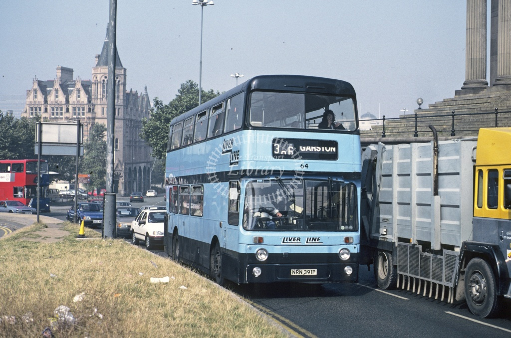 LiverLine, Liverpool Leyland AN68 64 NRN391P at Liverpool in 1991 - Sep 1991 - Roy Marshall
