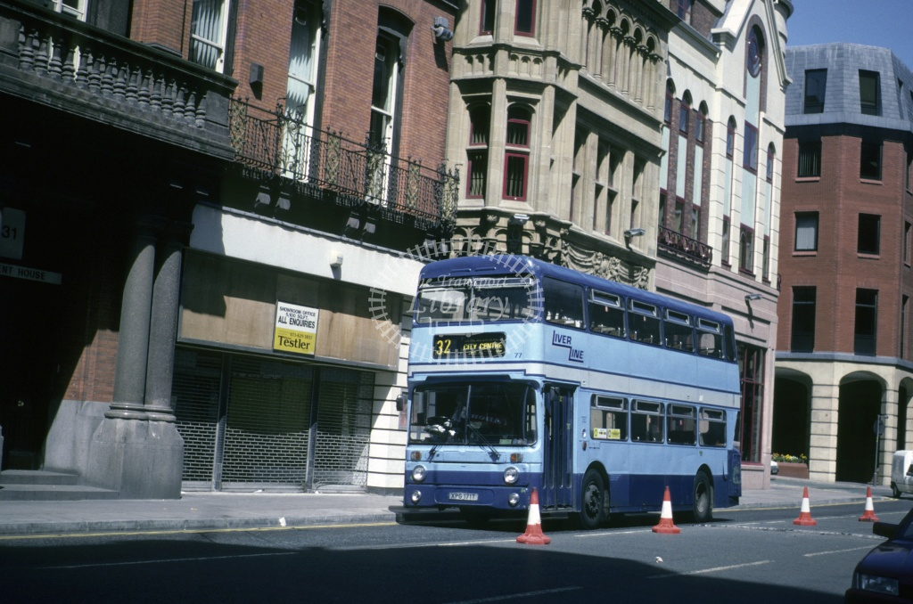 LiverLine, Liverpool Leyland AN68 77 XPG171T at Liverpool in 1992 - May 1992 - Roy Marshall