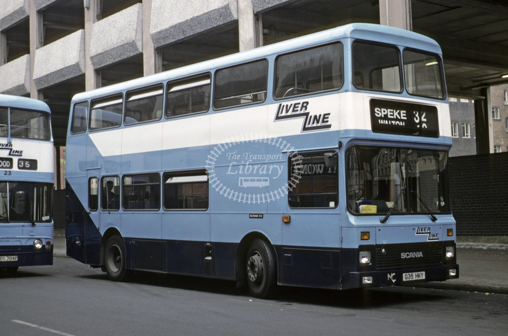 LiverLine, Liverpool Leyland AN68 102 G35HKY at Liverpool in 1990 - May 1990 - Roy Marshall