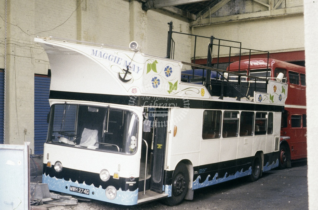LiverLine, Liverpool Leyland PDR1A/1 MWH274G at Liverpool in 1991 - Oct 1991 - Roy Marshall