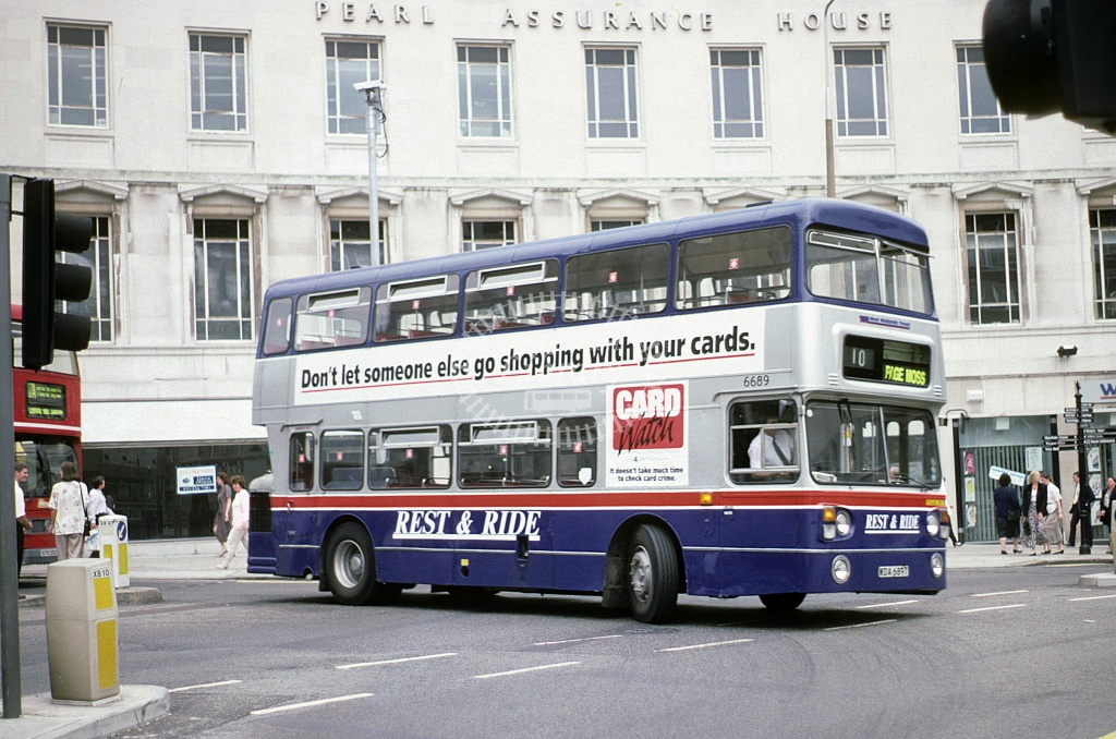 Rest a Ride, Aintree Leyland FE30 WDA689T at Liverpool in 1994 - Jun 1994 - Roy Marshall