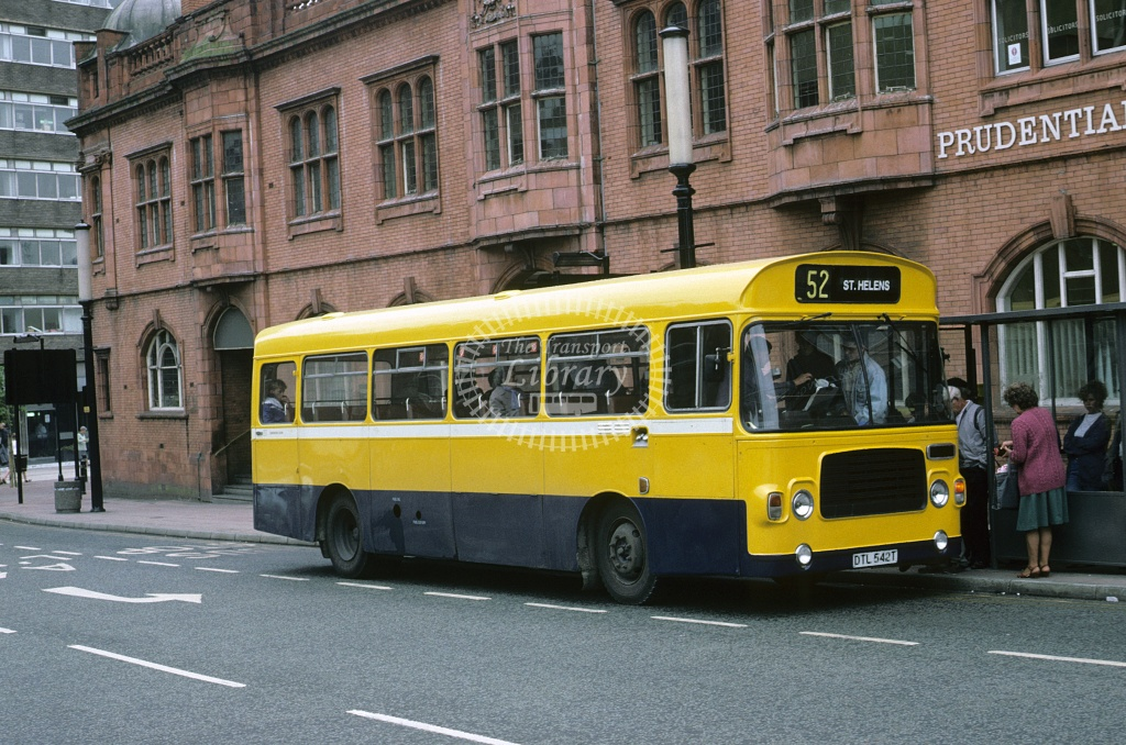 SLT  (Stewart), St Helens Bristol LH6L DTL542T at St Helens in 1990 - May 1990 - Roy Marshall