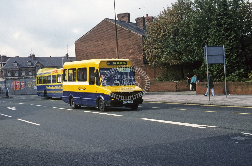 SLT  (Stewart), St Helens Ford 405D G282HDW at St Helens in 1993 - Oct 1993 - Roy Marshall