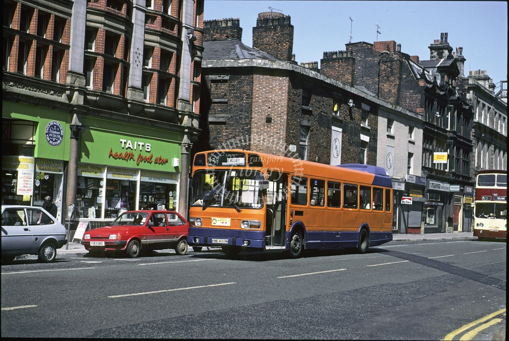 Topping, Liverpool Leyland Nat HNE633N at Liverpool in 1992 - May 1992 - Roy Marshall