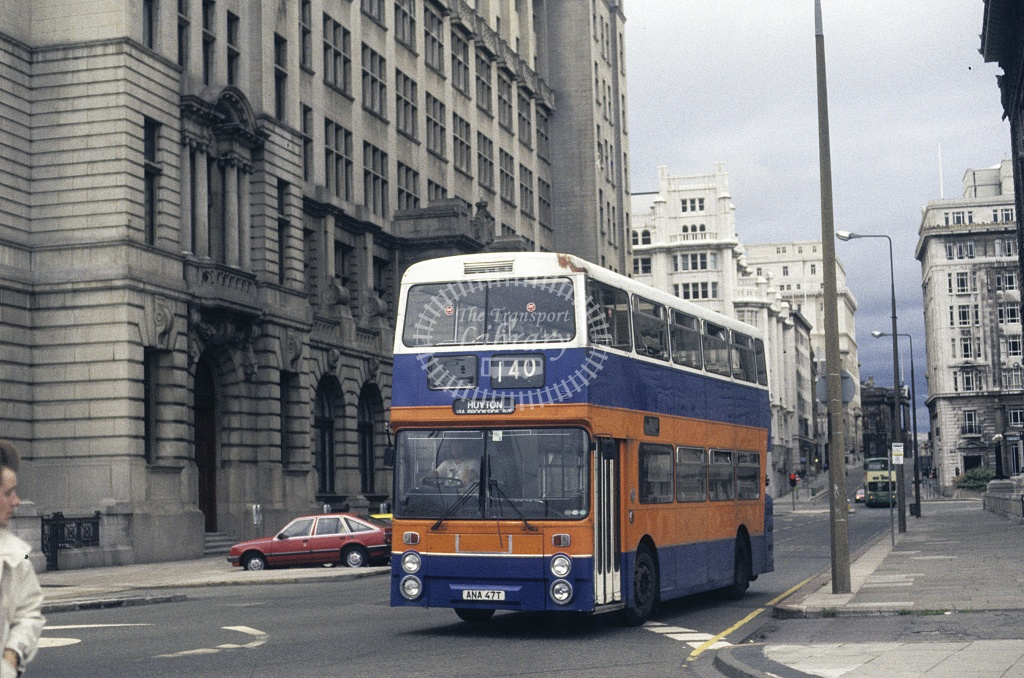 Topping, Liverpool Leyland FE30 ANA47T at Liverpool in 1989 - Aug 1989 - Roy Marshall
