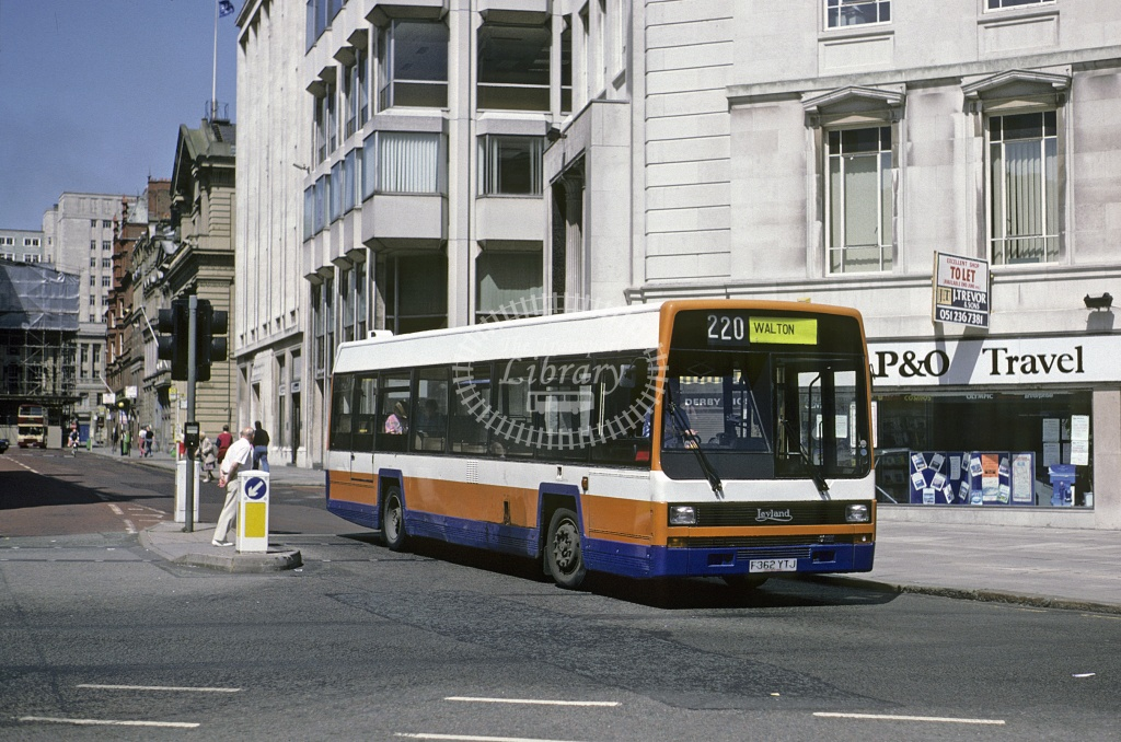 Topping, Liverpool Leyland Lynx F362YTJ at Liverpool in 1992 - May 1992 - Roy Marshall