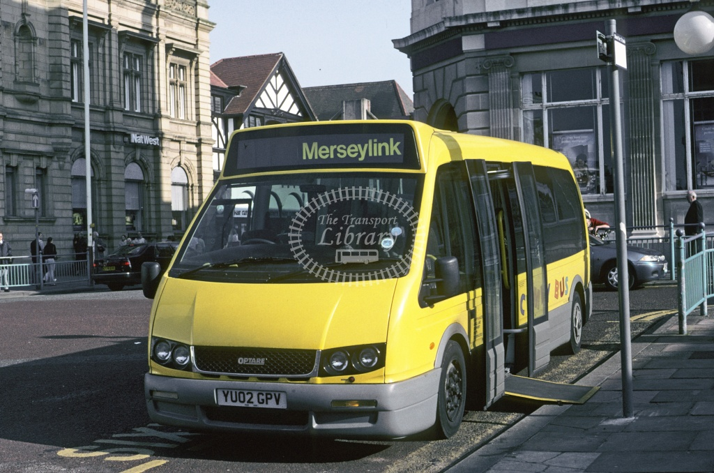 Vickers, Churchtown Optare Alero YU02EPV at Southport in 1993 - Mar 1993 - Roy Marshall