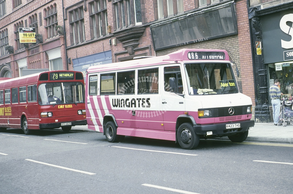Wingates, Melling Mercedes 711D K427THG at Liverpool in 1994 - May 1994 - Roy Marshall