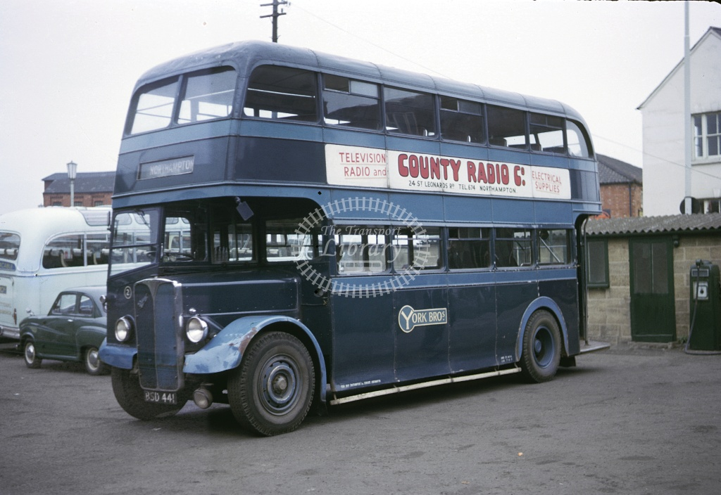 York Bros, Cogenhoe AEC Regent III BSD441 at Northampton in 1963 - Sep 1963 - Roy Marshall