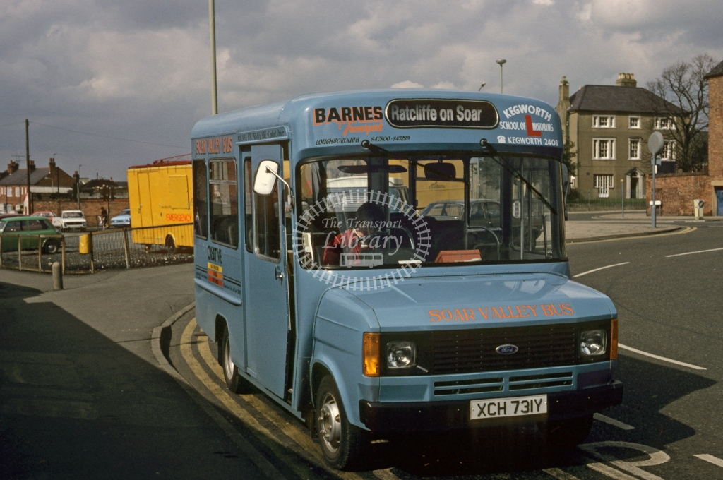 West Rushcliffe Parish Group Ford Transit 20 XCH731Y  at Loughborough  in 1983 - Jul - Roy Marshall