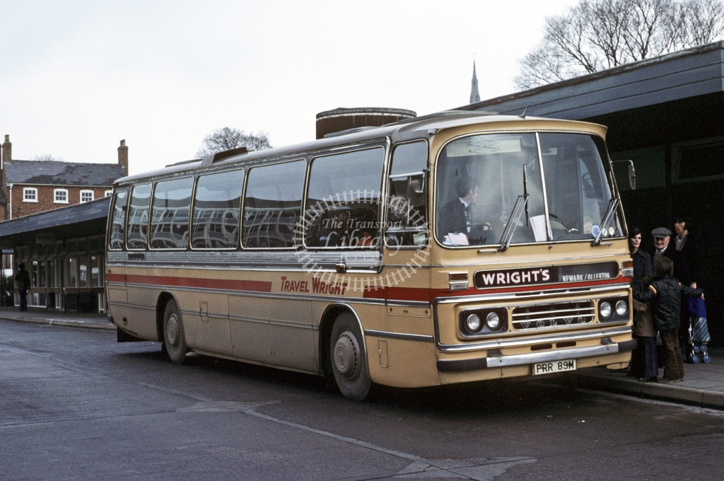 Wright, Newark Volvo B58 763 PRR89M  at Newark  in 1980 - Mar - Roy Marshall