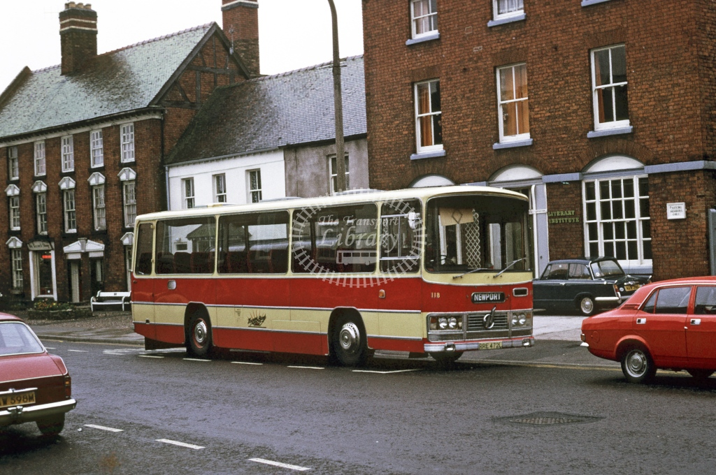 Happy Days, Woodseaves Bedford YRQ 1954 RRE472L  at Newport  in 1973 - Oct - Roy Marshall