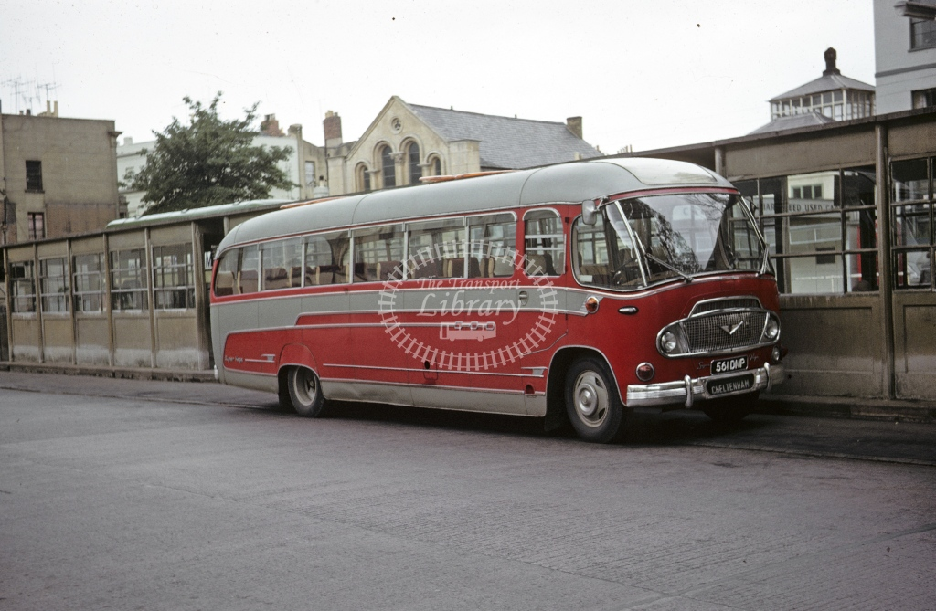 Broadway Coaches, Broadway Bedford 561DNP  at Cheltenham  in 1963 - Jul - Roy Marshall