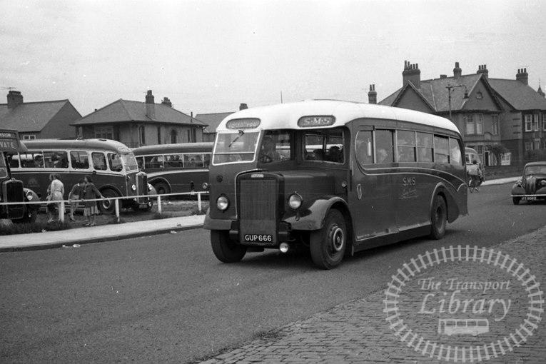 Saltburn Motor Services Leyland Single Decker GUP666 at Saltburn Area in 1970 on route Unknown - Neville Stead Collection