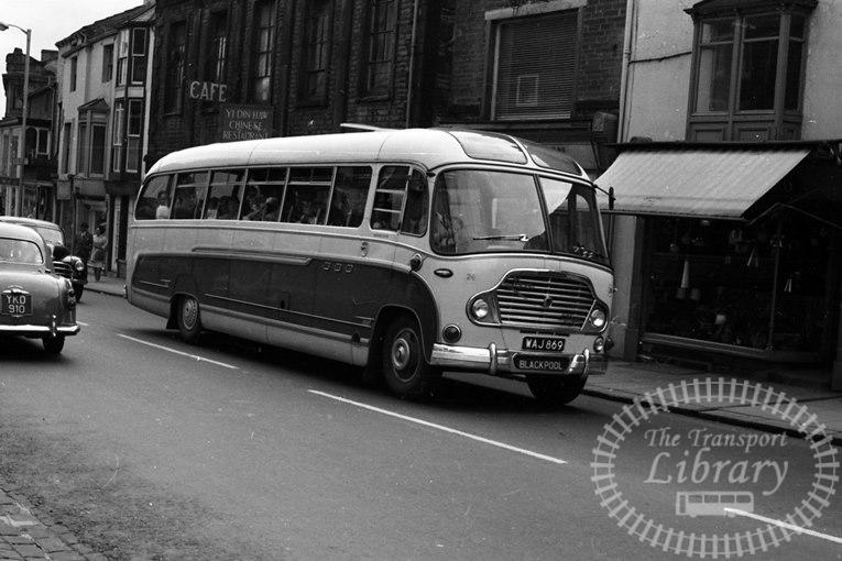 Saltburn Motor Services Bedford SB1 Duple Super Vega 24 WAJ869 at Saltburn Area in 1969 on route Unknown - Neville Stead Collection