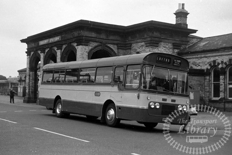 Saltburn Motor Services Bedford VAM70 59 TPY942H at Saltburn Area in 1970 on route Unknown - Neville Stead Collection