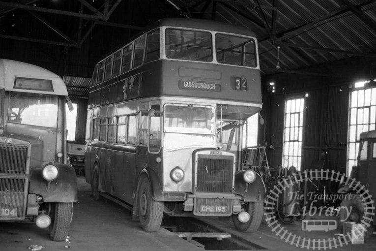 Saltburn Motor Services Leyland Titan PD2 CHE195 at Saltburn Area in 1971 on route Unknown - Neville Stead Collection