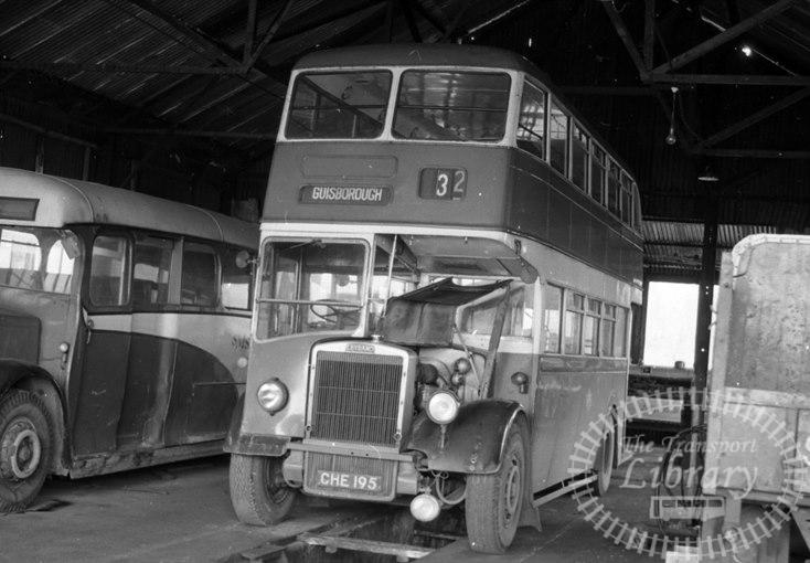 Saltburn Motor Services Leyland Titan PD2 CHE195 at Saltburn Area in 1969 on route Unknown - Neville Stead Collection