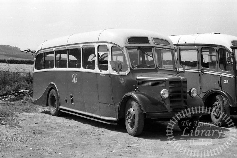 Saltburn Motor Services Bedford OB 15 EF8616 at Saltburn Area in 1960s on route Unknown - Neville Stead Collection
