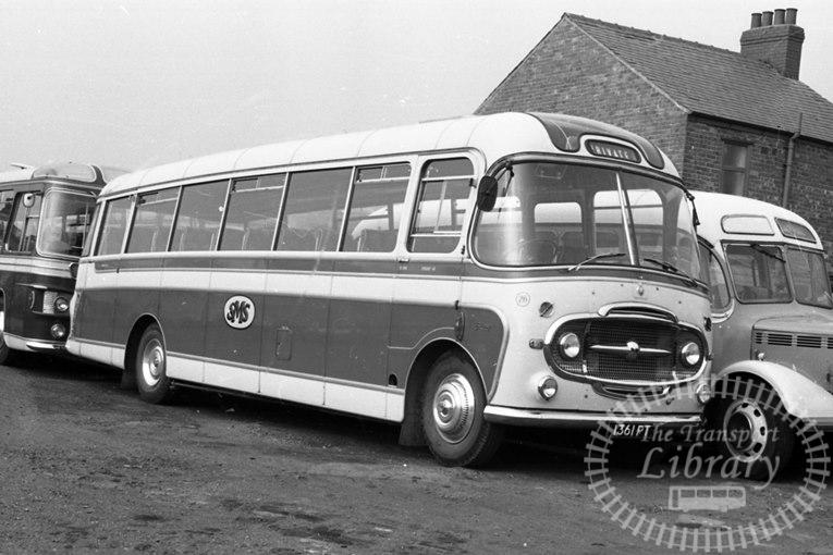 Saltburn Motor Services Bedford SB1 25 1361PT at Saltburn Area in 1960s on route Unknown - Neville Stead Collection