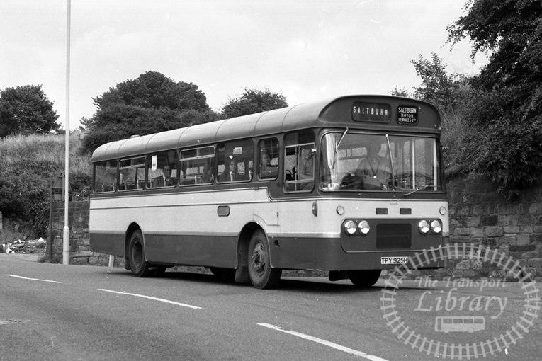 Saltburn Motor Services Bedford VAM70 60 TPY925H at Saltburn Area in 1960s on route Unknown - Neville Stead Collection