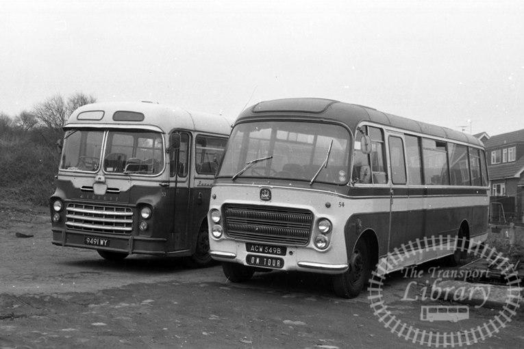 Saltburn Motor Services Bedford SB5 54 ACW549B at Saltburn Area in 1972 on route Unknown - Neville Stead Collection