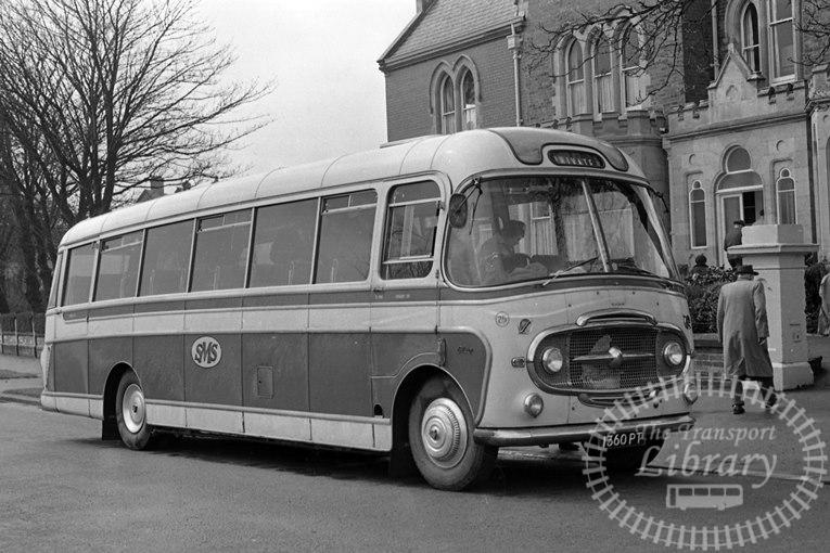 Saltburn Motor Services Bedford SB1 1360PT at Saltburn Area in 1970 on route Unknown - Neville Stead Collection