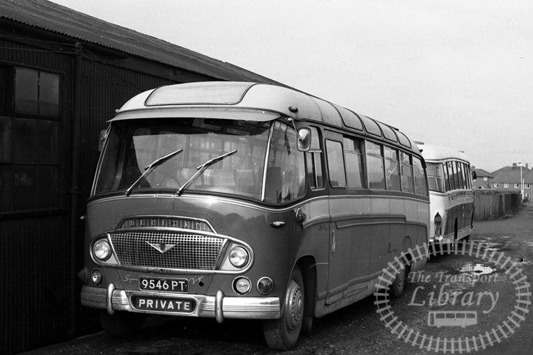 Saltburn Motor Services Bedford SB5 46 9546PT at Saltburn Area in 1970 on route Unknown - Neville Stead Collection
