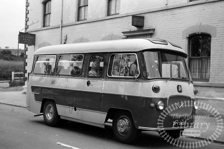 Saltburn Motor Services Bedford J2SZ10 40 DPY582C at Saltburn Area in 1969 on route Unknown - Neville Stead Collection