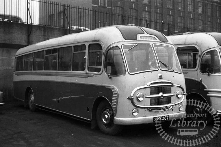 Saltburn Motor Services Bedford SB3 22 SPY387 at Saltburn Area in 1969 on route Unknown - Neville Stead Collection