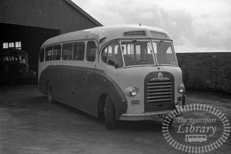 Saltburn Motor Services Bedford SB 18 HAJ417 at Saltburn Area in 1969 on route Unknown - Neville Stead Collection