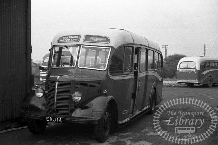 Saltburn Motor Services Bedford OB 9 EAJ14 at Saltburn Area in 1960s on route Unknown - Neville Stead Collection