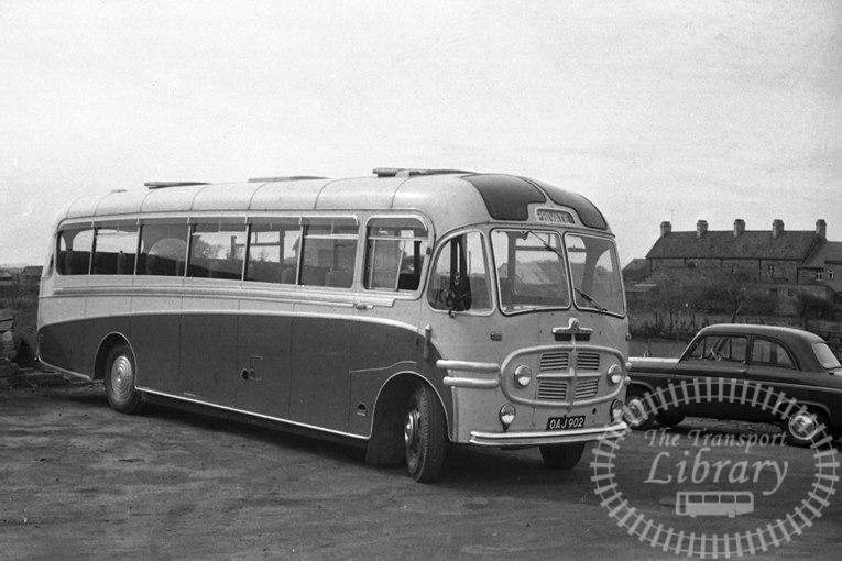 Saltburn Motor Services Bedford SBG 20 OAJ902 at Saltburn Area in 1969 on route Unknown - Neville Stead Collection