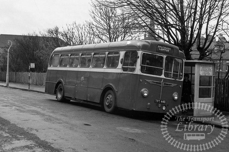Saltburn Motor Services Leyland Tiger Cub 48 TPT448 at Saltburn Area in 1969 on route Unknown - Neville Stead Collection